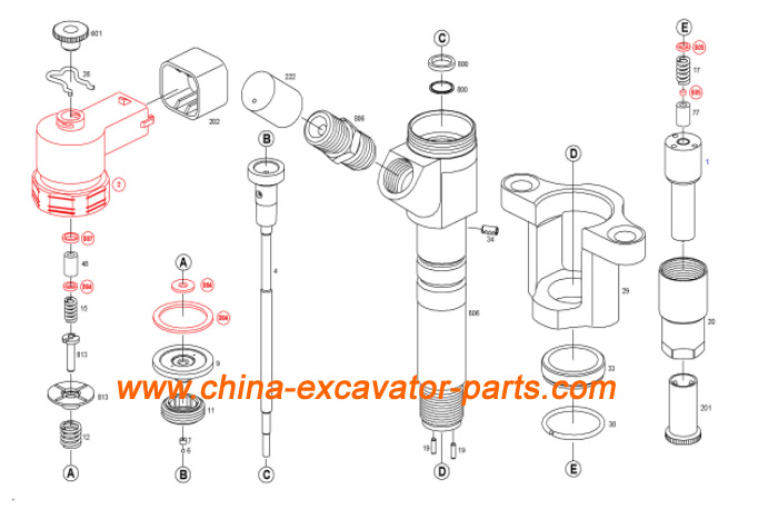 0445120048 4M50 Injector ME226718