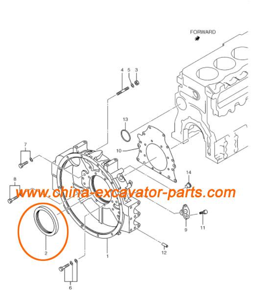 Crankshaft Rear Oil Seal 3431200080