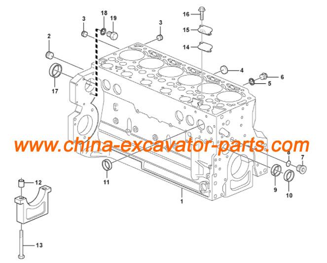 D6E Engine Cylinder Block